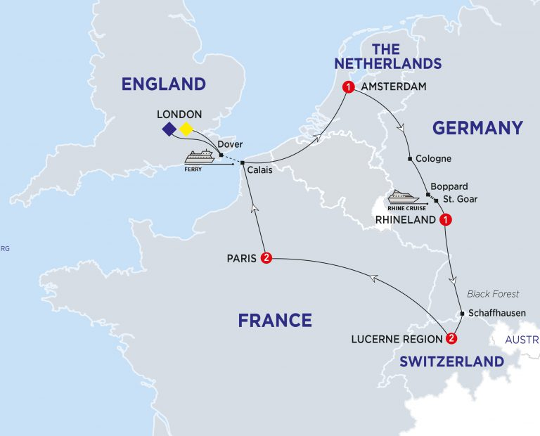 Calais Europe Map.7 Day 5 Countries Best Of Europe Tour Best Value Tours